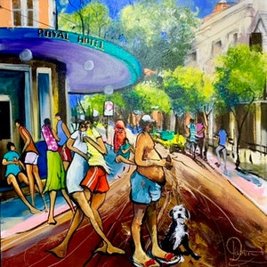 (CreativeWork) Sunday Session - Original Artwork  by Donald James Waters OAM. arcylic-painting. Shop online at Bluethumb.