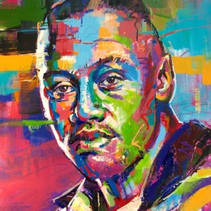 (CreativeWork) Jonah Lomu by Jos Coufreur. acrylic-painting. Shop online at Bluethumb.