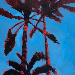 (CreativeWork) Palm Cocktail  by Kate Gradwell. Acrylic Paint. Shop online at Bluethumb.