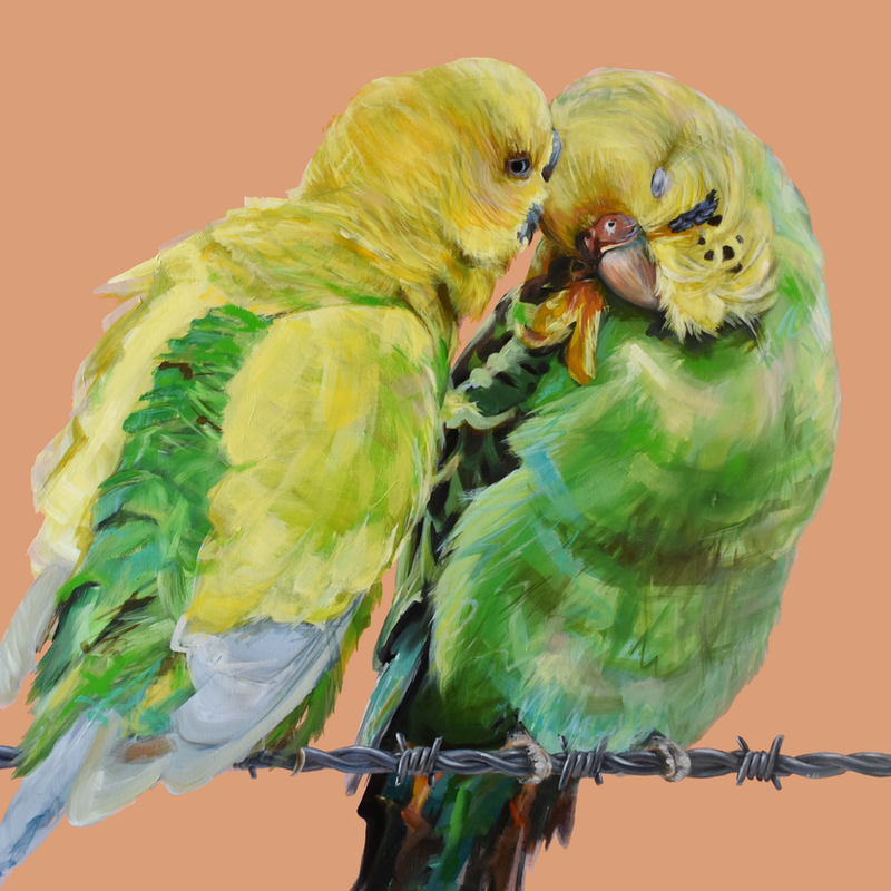 (CreativeWork) Country Love by Rebecca Hill. acrylic-painting. Shop online at Bluethumb.