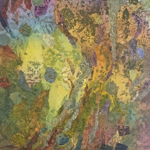 """(CreativeWork) The Artist""""s Journey by Jennifer O'Young. mixed-media. Shop online at Bluethumb."""