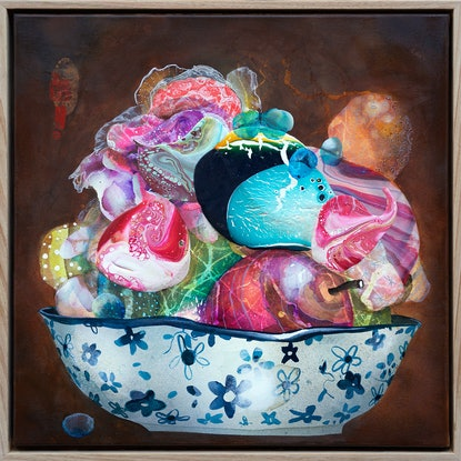 (CreativeWork) Unstill Life 1 by Amanda Krantz. Acrylic Paint. Shop online at Bluethumb.