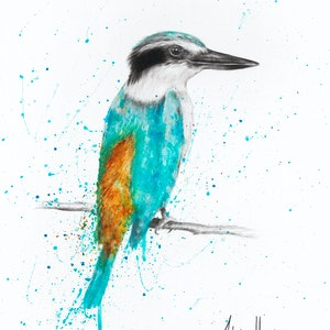 (CreativeWork) Morning Song Bird by Ashvin Harrison. arcylic-painting. Shop online at Bluethumb.