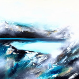 (CreativeWork) Lost Blue in the Hue  by Alice Howell. oil-painting. Shop online at Bluethumb.