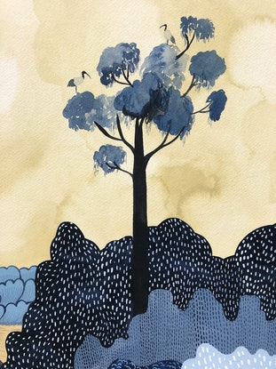 (CreativeWork) Emigre 2 by Sally Browne. Watercolour Paint. Shop online at Bluethumb.