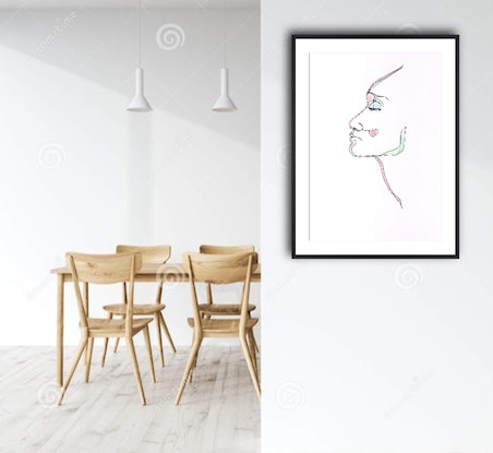 (CreativeWork) Breathe , with a touch of  colour by Phil Herbison. Drawings. Shop online at Bluethumb.