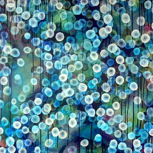 (CreativeWork) Bioluminous Swell I – Large Original Painting by Jacquelyn Stephens. mixed-media. Shop online at Bluethumb.