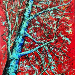 (CreativeWork) THE LAST TREE by JOLANTA BIBIANNA MACIOLEK. arcylic-painting. Shop online at Bluethumb.