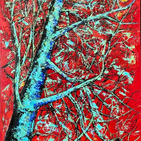 (CreativeWork) THE LAST TREE by JOLANTA BIBIANNA MACIOLEK. Acrylic Paint. Shop online at Bluethumb.