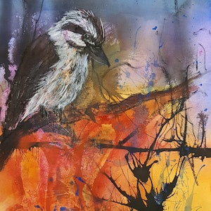 (CreativeWork) On the Lookout by Marion Hughes. mixed-media. Shop online at Bluethumb.