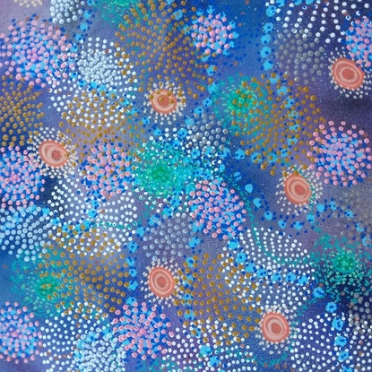 (CreativeWork) Seven Sisters Dreaming  by Renee Clifton. Acrylic Paint. Shop online at Bluethumb.