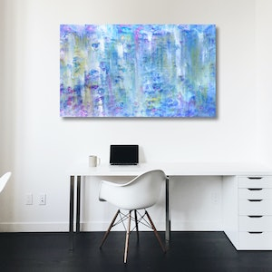 (CreativeWork) Subtle Azure by Estelle Asmodelle. acrylic-painting. Shop online at Bluethumb.