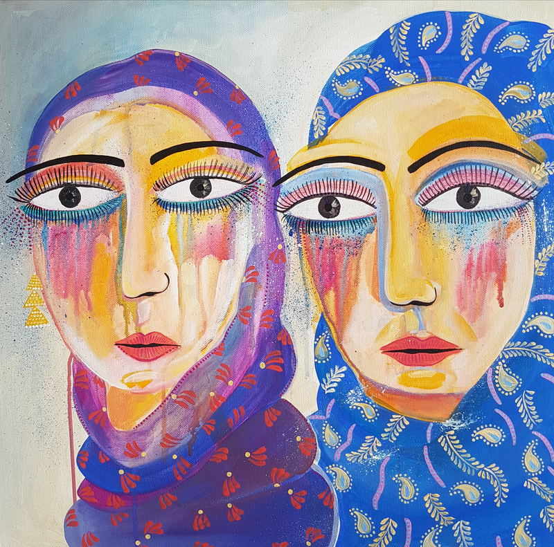 (CreativeWork) The magic between us by Amani Haydar. Acrylic Paint. Shop online at Bluethumb.