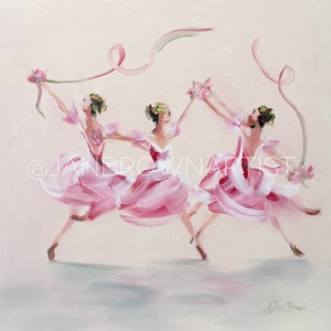 (CreativeWork) Ballet Dream by Jan Brown. oil-painting. Shop online at Bluethumb.