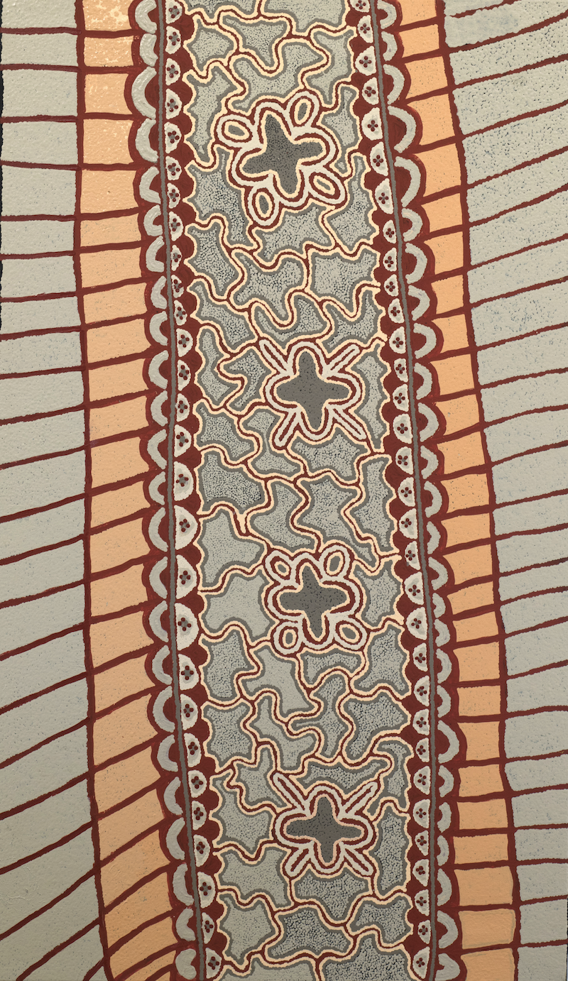 (CreativeWork) Janmarda 102-18 by Emily Andy Napaltjarri. acrylic-painting. Shop online at Bluethumb.