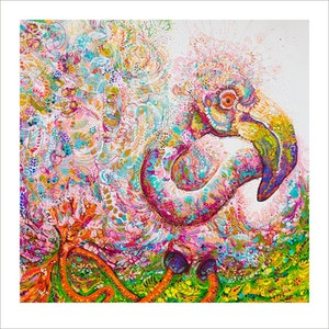 (CreativeWork) Felicity Flamingo Limited Edition Print Ed. 1 of 50 by Tina Dinte. print. Shop online at Bluethumb.