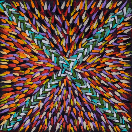 (CreativeWork) Feather and Leaves (17-KM105) by Mary James. Acrylic Paint. Shop online at Bluethumb.