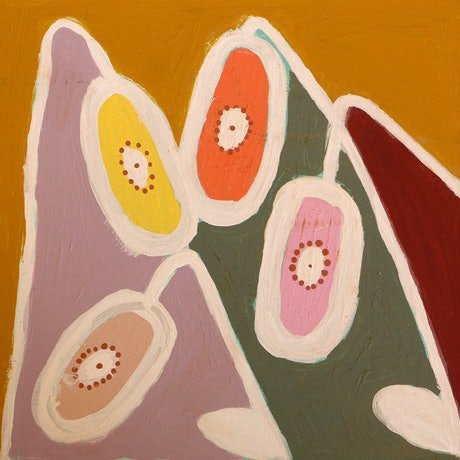 (CreativeWork) Bendy Flower (18-EP226) by Kaye Beasley. Acrylic Paint. Shop online at Bluethumb.