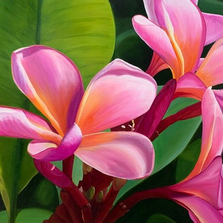 (CreativeWork) Pink Splash (Price adjusted) by Hayley Kruger. Acrylic Paint. Shop online at Bluethumb.