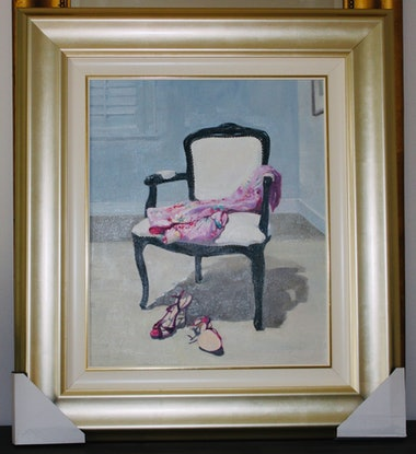 (CreativeWork) Dressing Room  (framed) by Li Zhou. Oil Paint. Shop online at Bluethumb.