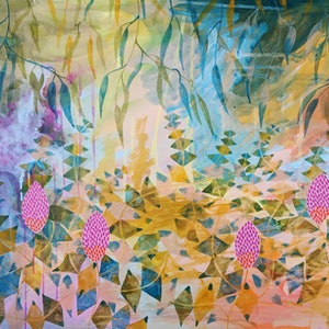 (CreativeWork) Basking in the  Banksia's by Marinka Parnham. #<Filter:0x00007fb2149d0cd8>. Shop online at Bluethumb.