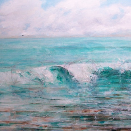 (CreativeWork) The Theory of Waves by Anne Tompson. Acrylic Paint. Shop online at Bluethumb.
