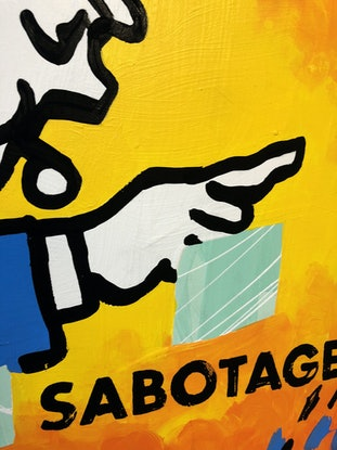 (CreativeWork) Sabotage! by Ben Tankard. Acrylic Paint. Shop online at Bluethumb.