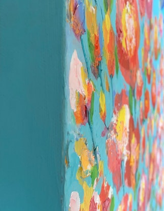 (CreativeWork) First light  by Janelle Bowra. Acrylic Paint. Shop online at Bluethumb.