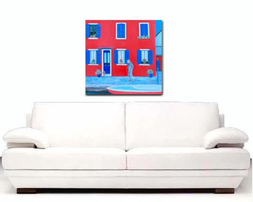 (CreativeWork) THE RED HOUSE, BURANO, VENICE by Jan Matson. #<Filter:0x00007f59d8641570>. Shop online at Bluethumb.