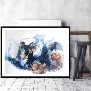 (CreativeWork) Moody Blues by Michelle Drougas. mixed-media. Shop online at Bluethumb.