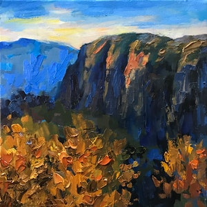 (CreativeWork) Autumn by Fangmin Wu. oil-painting. Shop online at Bluethumb.