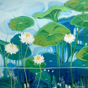 (CreativeWork) Up From Underneath by Clair Bremner. arcylic-painting. Shop online at Bluethumb.