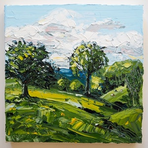 (CreativeWork) Plein-Air Beechmont Queensland Landscape by Michelle Keighley. oil-painting. Shop online at Bluethumb.