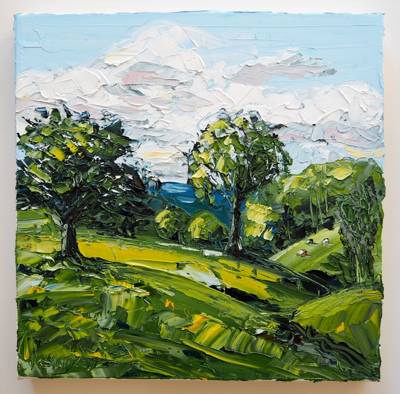 (CreativeWork) Plein-Air Beechmont Queensland Landscape by Michelle Keighley. Oil Paint. Shop online at Bluethumb.