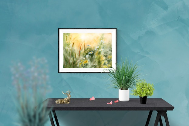 (CreativeWork) Morning Meadow by Cecilia Xiao. Watercolour Paint. Shop online at Bluethumb.