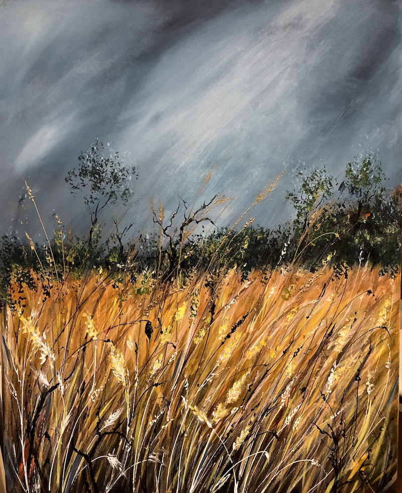 (CreativeWork) A Change in the Weather. (Revisited) by Marion Rispin. arcylic-painting. Shop online at Bluethumb.