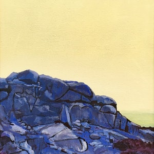 (CreativeWork) Granite Island Rocks 2 by Ross Morgan. arcylic-painting. Shop online at Bluethumb.