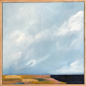 (CreativeWork) Idyllic Skies  by Marnie McKnight. arcylic-painting. Shop online at Bluethumb.