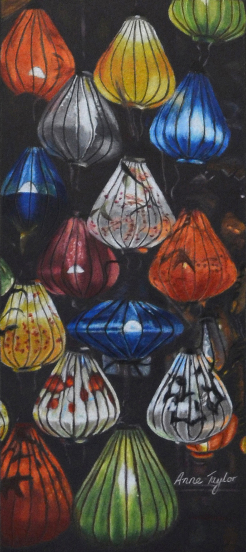 (CreativeWork) Lanterns 'R Us by Anne Taylor. drawing. Shop online at Bluethumb.