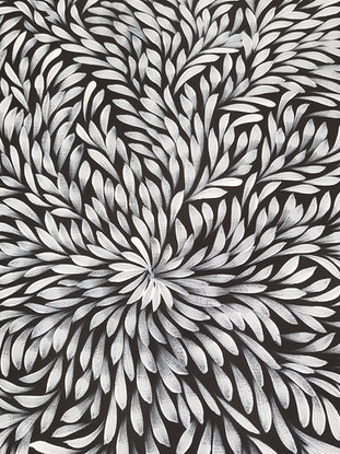 (CreativeWork) Bush Medicine Leaves - Long Black & White by Louise Numina. #<Filter:0x00007fcaf2f469a0>. Shop online at Bluethumb.