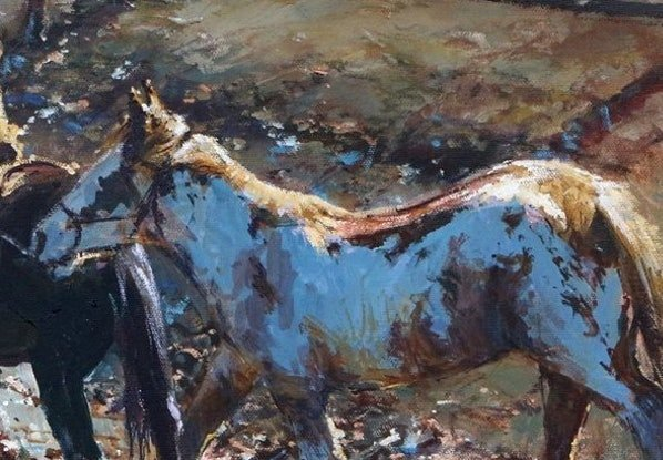 (CreativeWork) 'LOST AND FOUND'  by ROBERT HAGAN collectible  by Robert Hagan. Oil Paint. Shop online at Bluethumb.