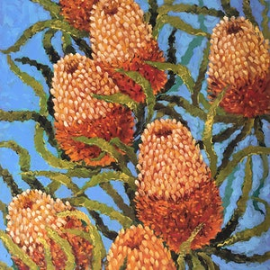 (CreativeWork) Banksia by Irina Redine. oil-painting. Shop online at Bluethumb.