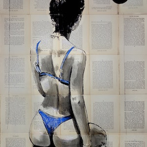 (CreativeWork) TRUE BLUE by loui jover. drawing. Shop online at Bluethumb.