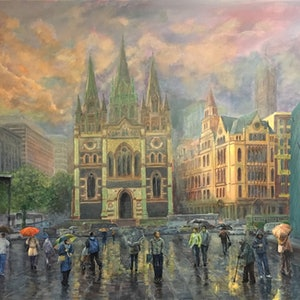 (CreativeWork) After the Rain - St Paul by Cheng Huat Lee. arcylic-painting. Shop online at Bluethumb.