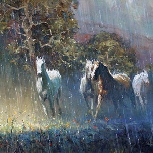 (CreativeWork) SUN SHOWER RUN by Robert Hagan. #<Filter:0x00007f5998851b70>. Shop online at Bluethumb.