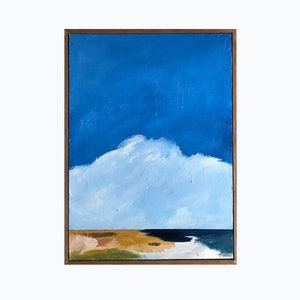 (CreativeWork) Outlook Over The Dunes by Marnie McKnight. acrylic-painting. Shop online at Bluethumb.