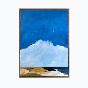 (CreativeWork) Outlook Over The Dunes by Marnie McKnight. arcylic-painting. Shop online at Bluethumb.