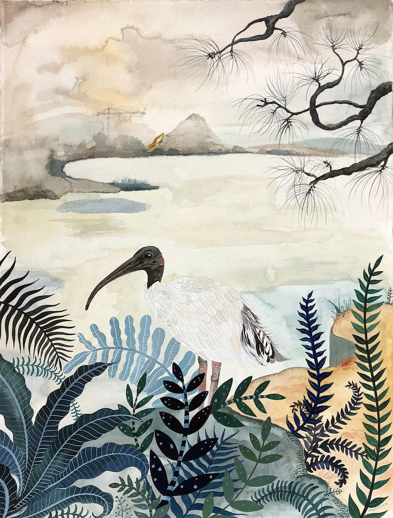 (CreativeWork) Nothing is Sacred 2018 by Sally Browne. watercolour. Shop online at Bluethumb.