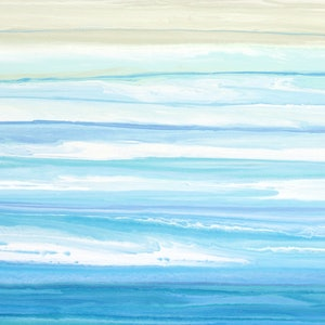 (CreativeWork) Brysea- large, long, blue green abstract seascape by Stephanie Laine Pickering. #<Filter:0x00007f0b8eb14900>. Shop online at Bluethumb.