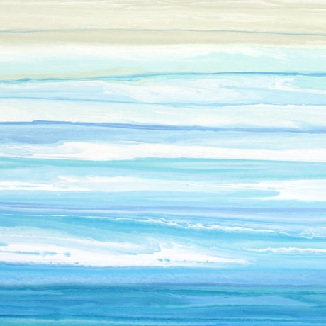 (CreativeWork) Brysea- large, long, blue green abstract seascape by Stephanie Laine Pickering. Acrylic Paint. Shop online at Bluethumb.